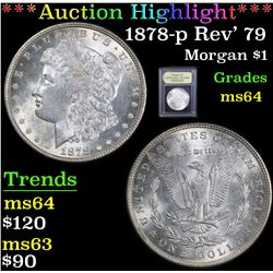 ***Auction Highlight*** 1878-p Rev' 79 Morgan Dollar $1 Graded Choice Unc By USCG (fc)