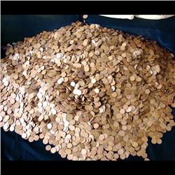 UNSEARCHED 5000 pc Bag of Lincoln Wheat Cents Average Circulated