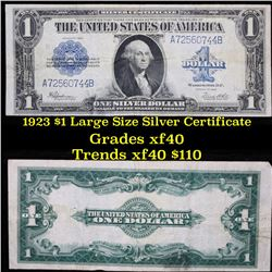1923 $1 large size silver certificate Grades xf