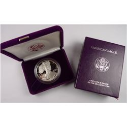 1986 1st Year US Silver Eagle Proof Mint Case