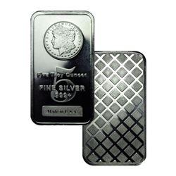 5 oz. Silver Morgan Design Bar- .999 Pure