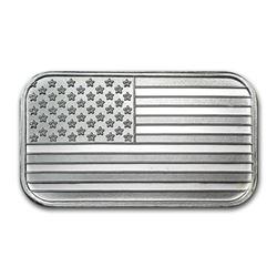 1 oz. American Flag Silver Bar - .999 Pure