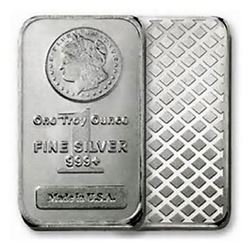 1 oz Silver Morgan Design Bar - .999 Pure
