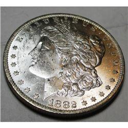 1882 O CH BU Morgan Silver Dollar