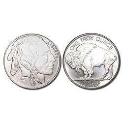 1 oz Buffalo Design Silver Round - .999 Pure