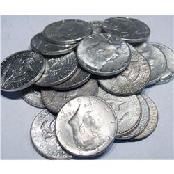$10 Face Value Kennedy Halves-90% Silver