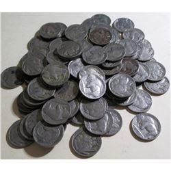 (100) Buffalo Nickels Various Dates and Grades