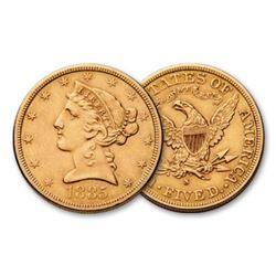 1885 s $5 Gold Liberty Half Eagle