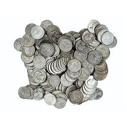 (100) Washington Quarters -90% Silver 1964 back