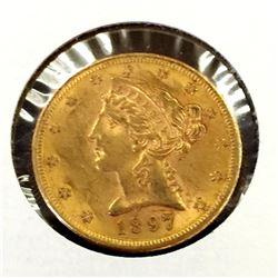 1897 S $5 Gold Liberty Half Eagle