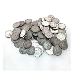 (50) Franklin Half Dollars -90% Mix