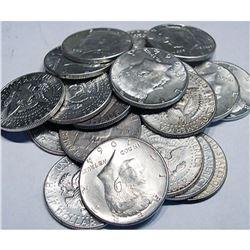 (20) Kennedy Half Dollars 1964 - 90% Silver