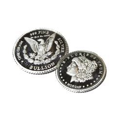 1 Gram Proof Morgan Design Silver Round
