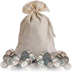 Bank Bag w/ 400 pcs. Walking Liberty Half Dollars