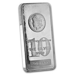10 oz. Morgan Design Silver Bar .999 Pure