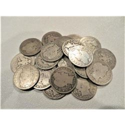 (20) Barber Quarters -90% Silver