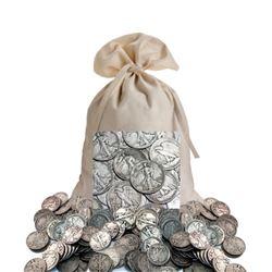 Bank Bag of 300 Walking Liberty Half Dollars 90%