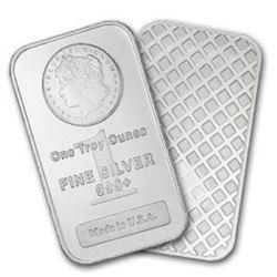 1 oz Silver Morgan Design Bar- .999 pure