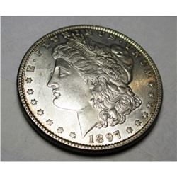 1897 P Better Date BU Morgan Silver Dollar