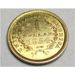 1854 TYPE 1 Gold $1 Liberty