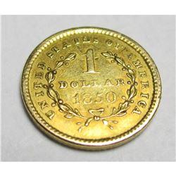 1850 Type 1 Gold Liberty $1