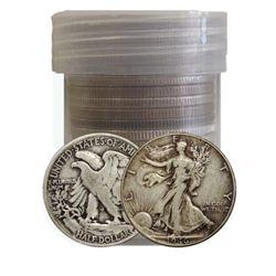 (20) Walking Liberty Half Dollars -90% Silver