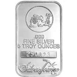 5 oz. Prospector Silver Bar - .999 pure