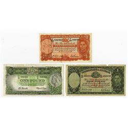 Commonwealth of Australia. 1939-1960. Trio of Issued Banknotes.