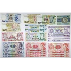 Banco Central do Brasil & Banco Central do Honduras. 1980s-2000s. Group of 38 Banknotes.