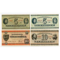 Danmarks Nationalbank & Others. 1949-1960. Quartet of Issued Notes.