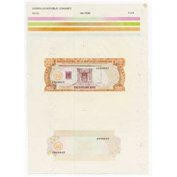 Banco Central De La Republica Dominicana, 1988 Essay Compound Proof Sheet.