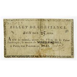 Billet de Confiance, ND (19th C.), Issued Note.