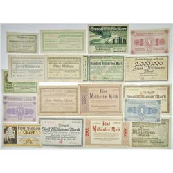 Altena; Bielstein; Bonn; Dresden-Ultstadt and other Assorted German Notgeld Issuers. 1923. Group of