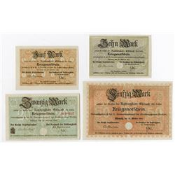 Eisenach. 1918. Quartet of Wartime Notgeld.