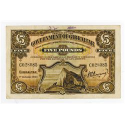 Government of Gibraltar, 1927 Ordinance, Regular Banknote Issue.