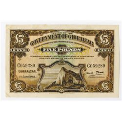 Government of Gibraltar, 1942, 1934 Ordinance, 1938-42 Banknote Issue.