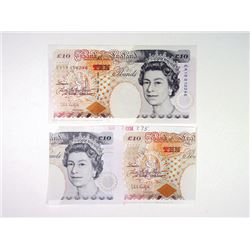 Bank of England 1993-1994 DuraNote Polymer Paper Essay Printing of £10 Banknote.