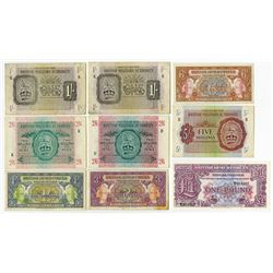 British Armed Forces. 1943-1948. Group of 9 Military Issue Notes.