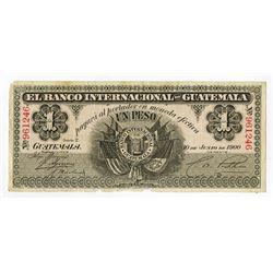 Banco Internacional de Guatemala. 1900. Issued Banknote.