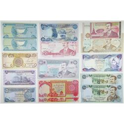 Central Bank of Iraq. 1981-2010. Collection of 15 Issued Banknotes.