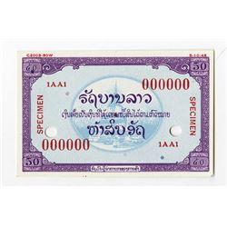Free Lao Government, 1948 Essay Banknote Specimen .