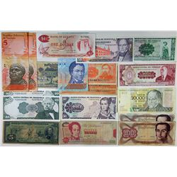 Assorted Latin American Issuers. 1966-2007. Group of 24 Issued Notes.