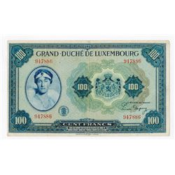 Grand - Duche De Luxembourg, ND (1944) Issue Banknote.