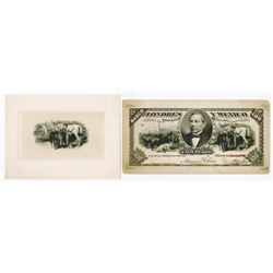 Banco de Londres y Mexico. ND (ca. 1889-1914). Pair of Proofs.