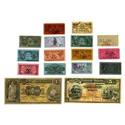 Banco Peninsular Mexico and other Revolutionary War Issues, c. 1913-1915, Group of 14 Notes