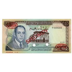 Bank of Morocco. 1970. Specimen Note.