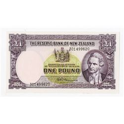 Reserve Bank of New Zealand, ND (1960-67) Issue Banknote with Security Thread.