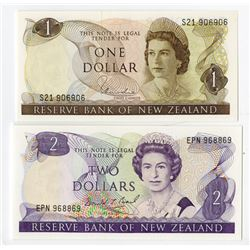 Reserve Bank of New Zealand. 1977-1981. Pair of Issued Notes.