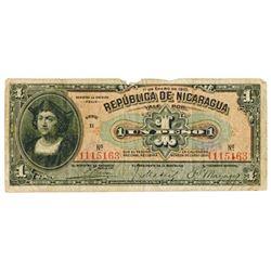 Republica de Nicaragua. 1910 (1911). Issued Banknote.