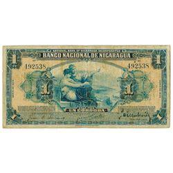 Banco Nacional de Nicaragua. 1935. Issued Banknote.